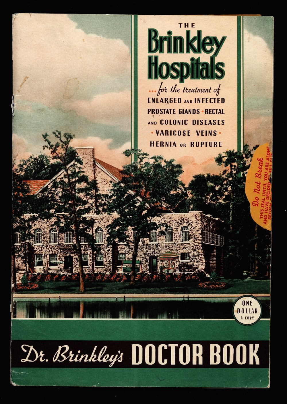 Dr. Brinkley's doctor book - Front Cover