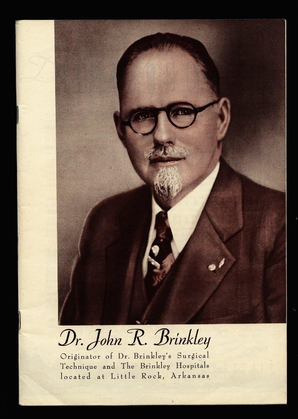Dr. Brinkley's doctor book - Portrait
