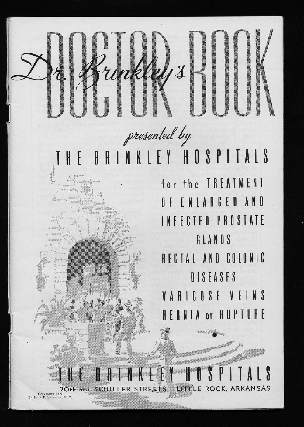 Dr. Brinkley's doctor book - Title Page