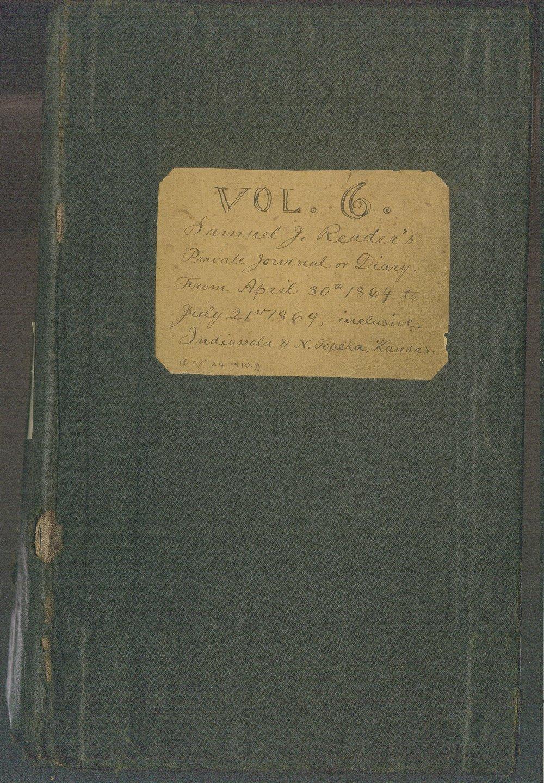 Samuel Reader's diary, volume 6 - Front Cover