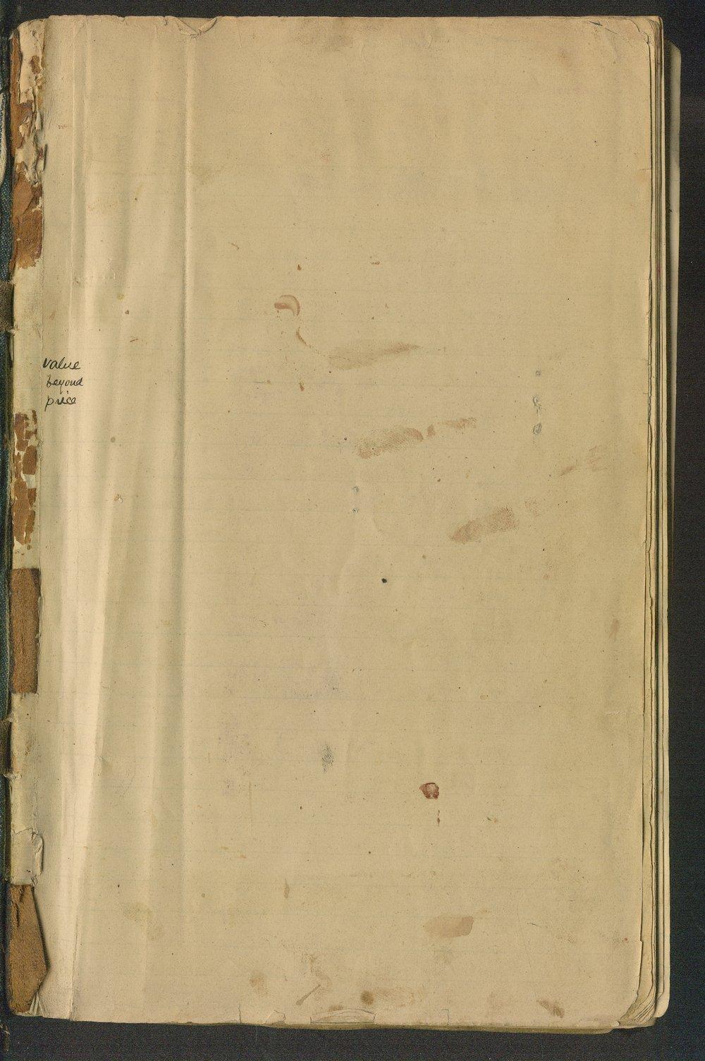 Samuel Reader's diary, volume 6 - Frontispiece