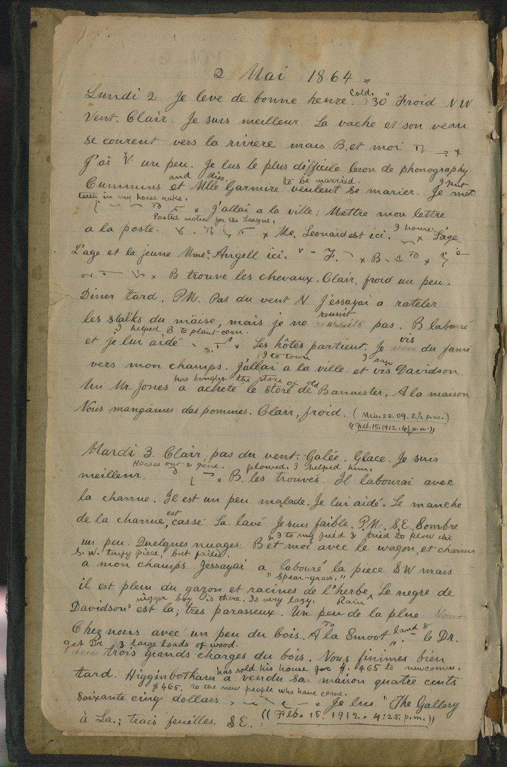 Samuel Reader's diary, volume 6 - 2