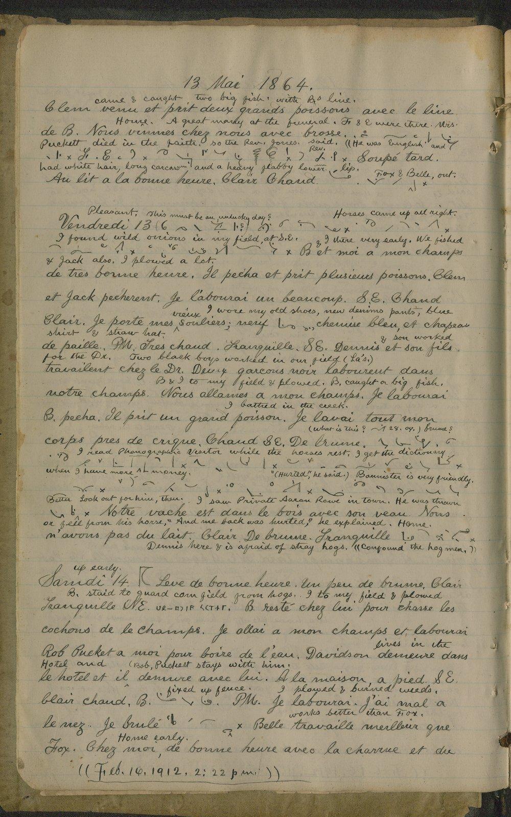 Samuel Reader's diary, volume 6 - 8