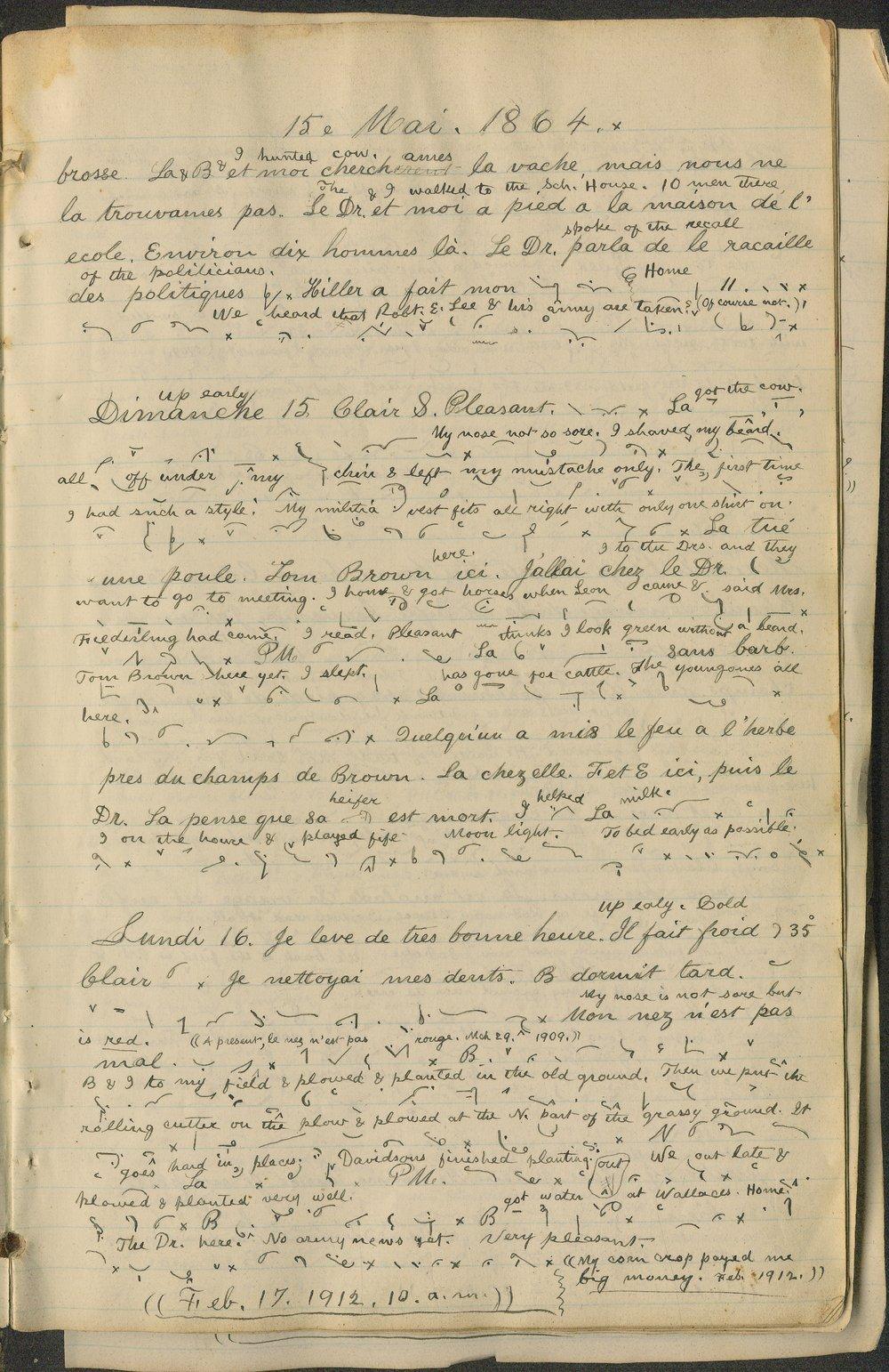 Samuel Reader's diary, volume 6 - 9