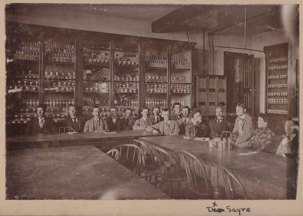 Pharmacy class at the University of Kansas, Lawrence, Kansas