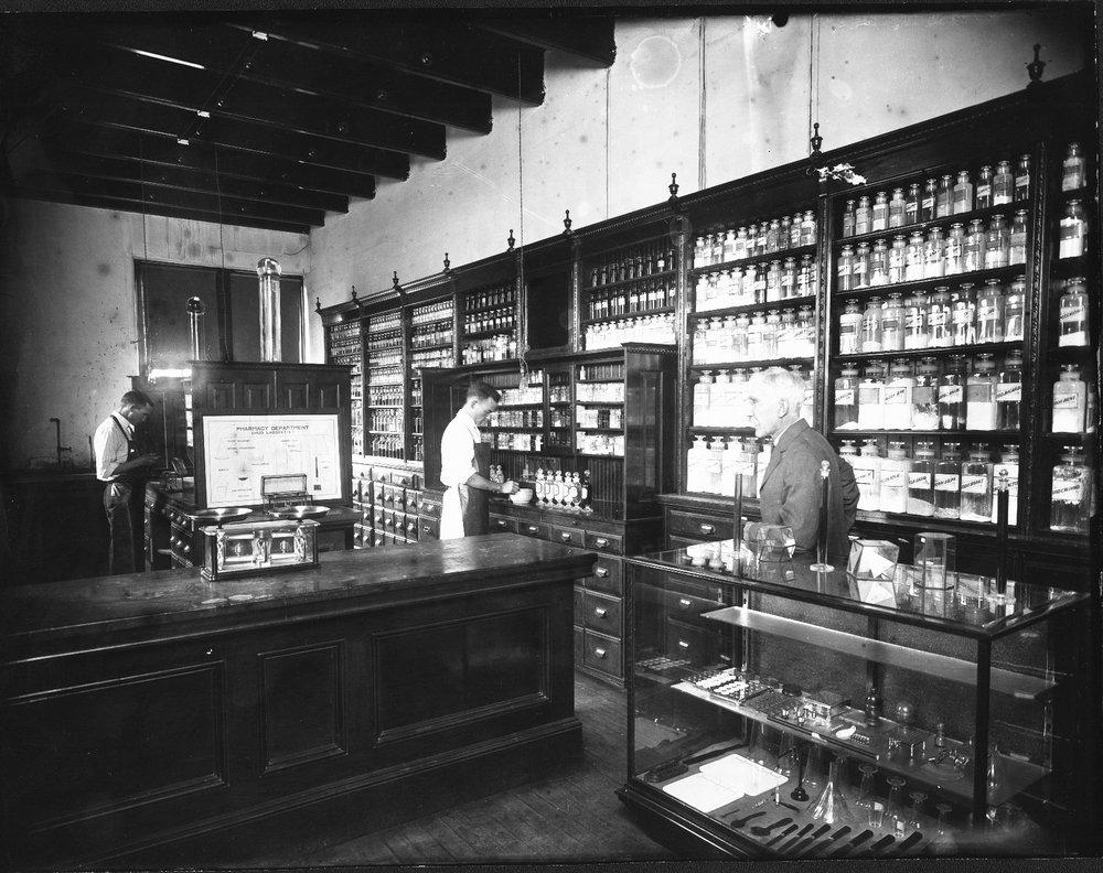 Pharmacy School prescription compounding room, University of Kansas, Lawrence, Kansas