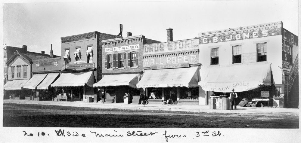 Drug stores on Main Street, Ottawa, Kansas - 2