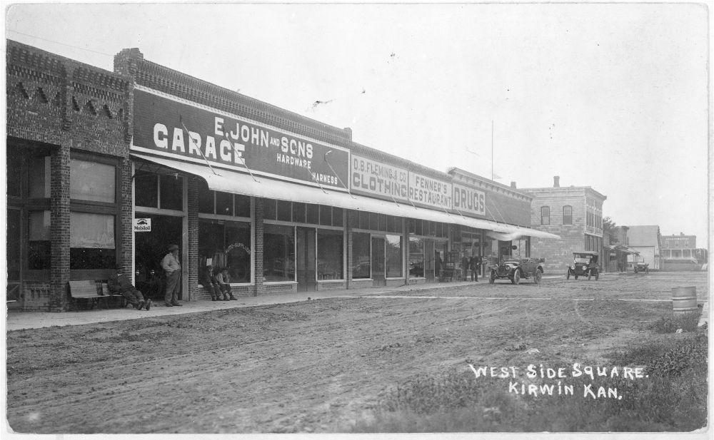 Street scene in Kirwin, Kansas