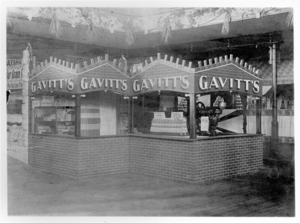 Gavitt's Drug Manufacturing Company display, Topeka, Kansas