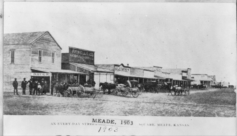 Main Street, Meade, Kansas - 1