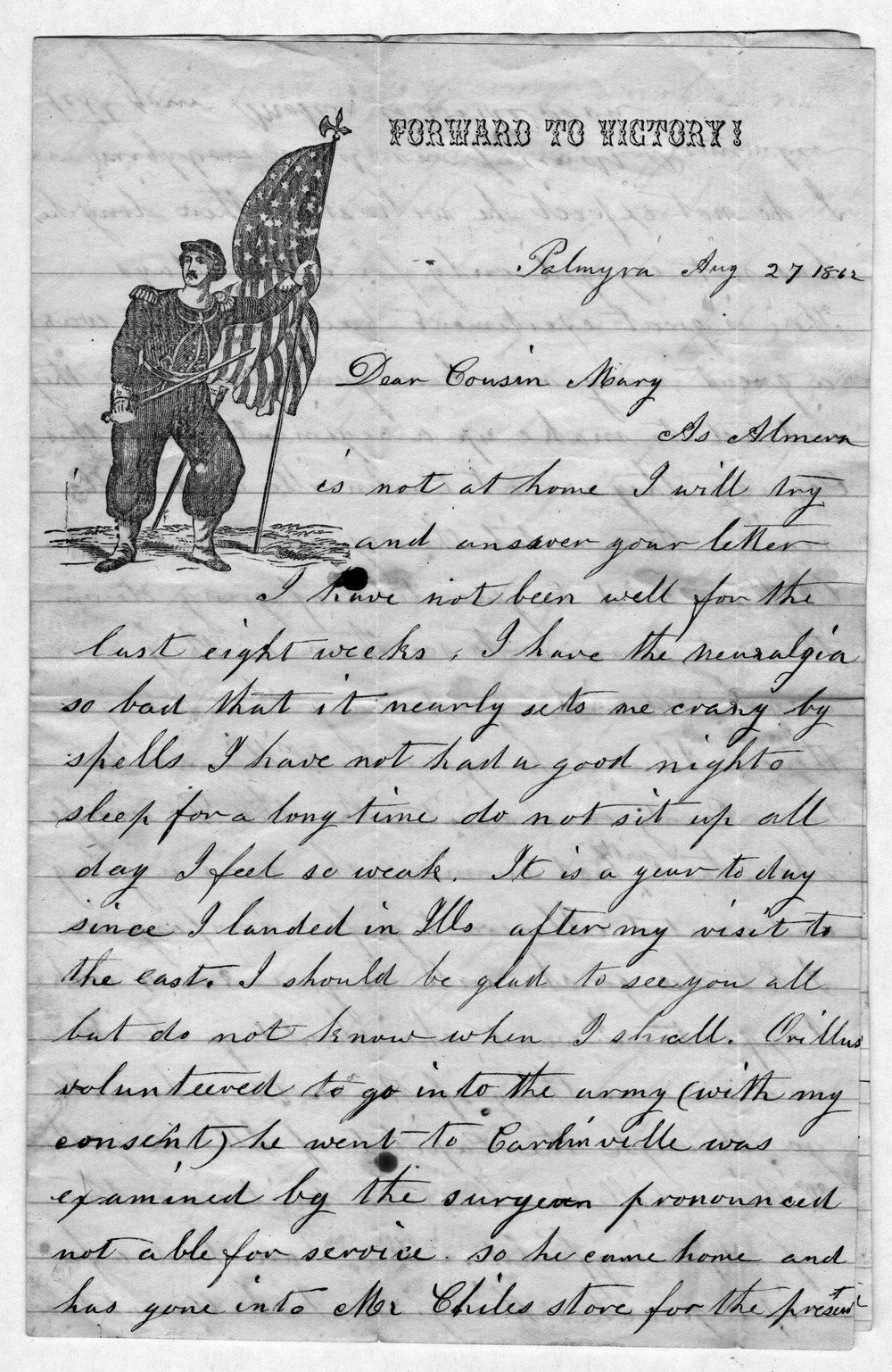 Hiram Hill family correspondence and diary - 10