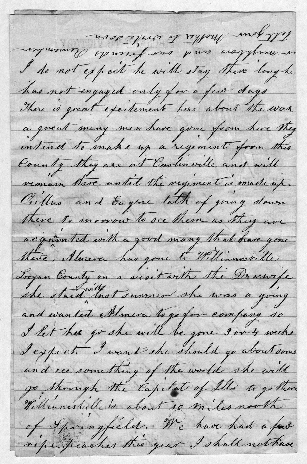 Hiram Hill family correspondence and diary - 11