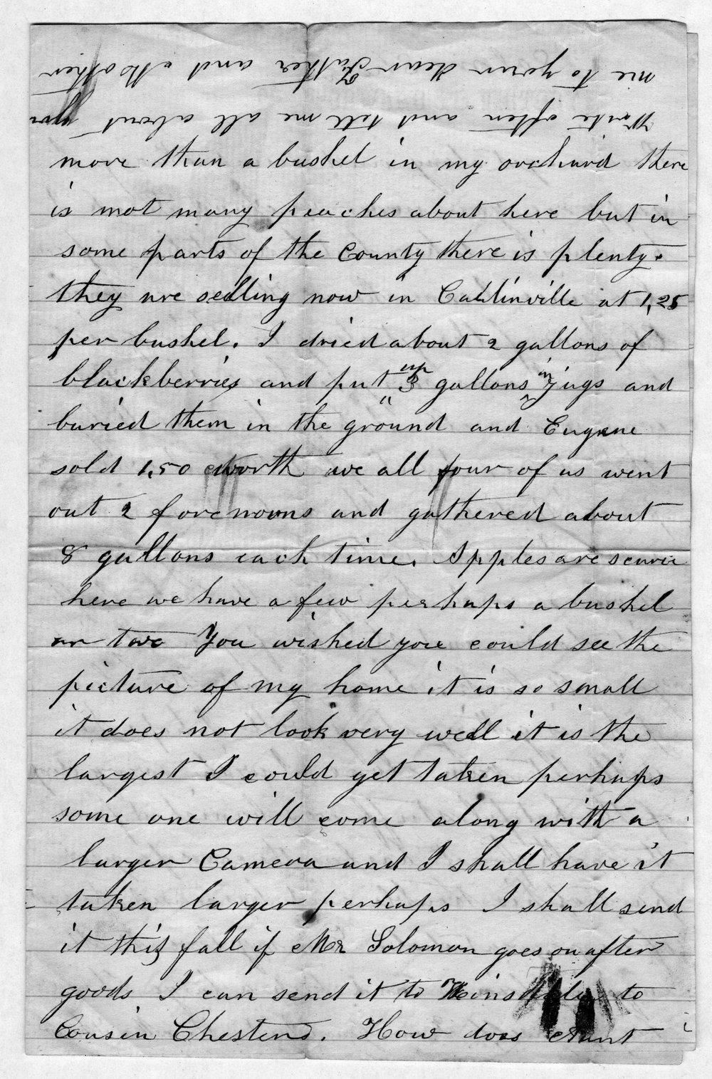 Hiram Hill family correspondence and diary - 12