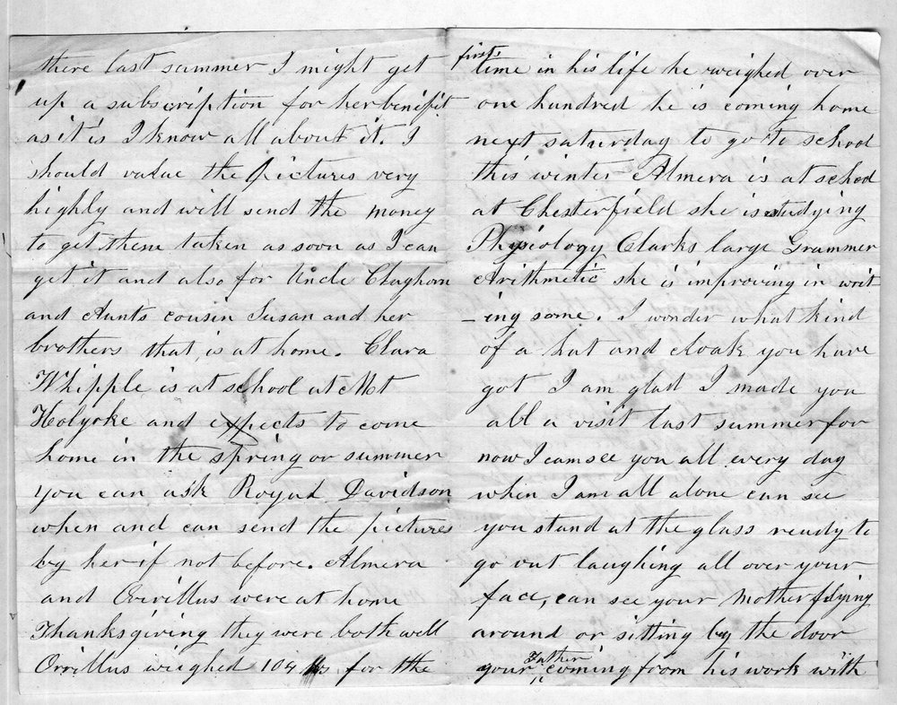Hiram Hill family correspondence and diary - 4