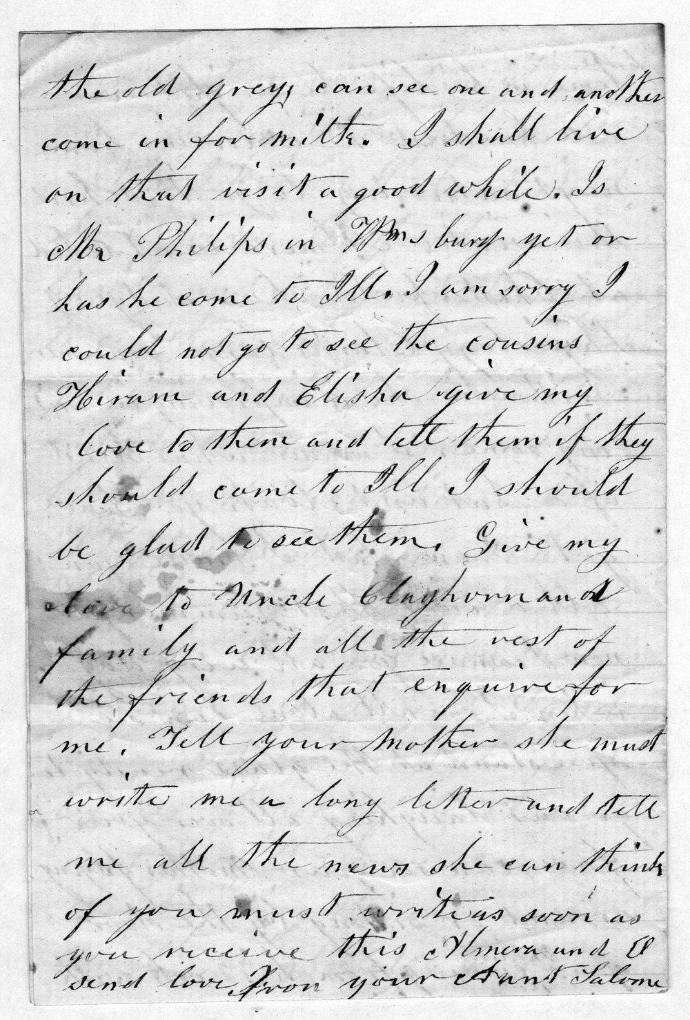 Hiram Hill family correspondence and diary - 5