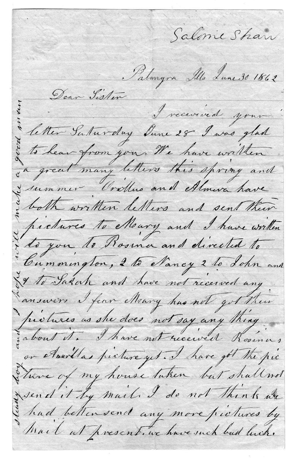 Hiram Hill family correspondence and diary - 6