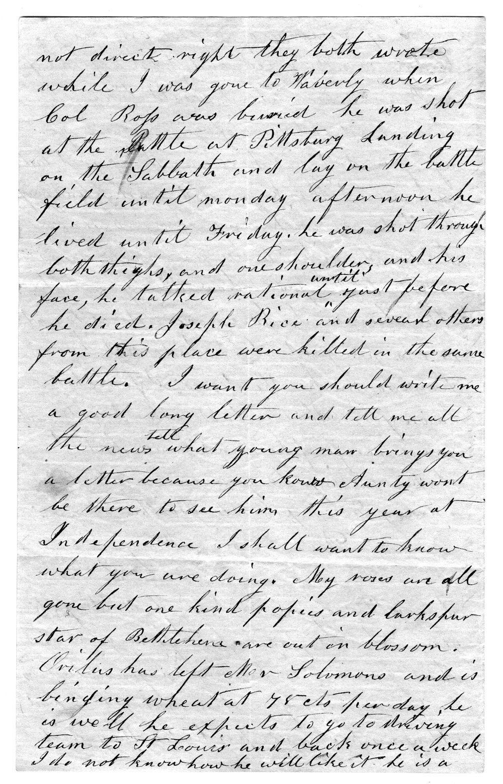 Hiram Hill family correspondence and diary - 9