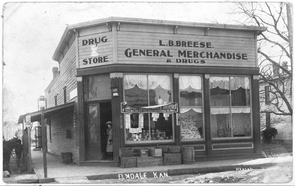 L. B. Breese General Merchandise and Drug Store, Elmdale, Kansas - 1
