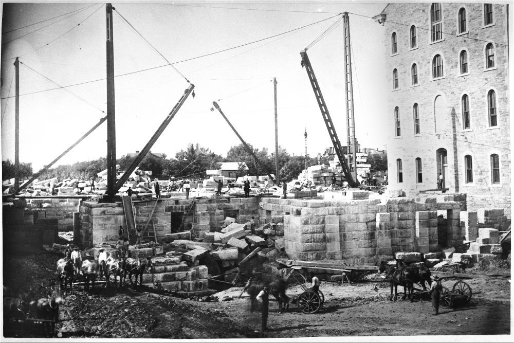 Capitol under construction in Topeka, Kansas