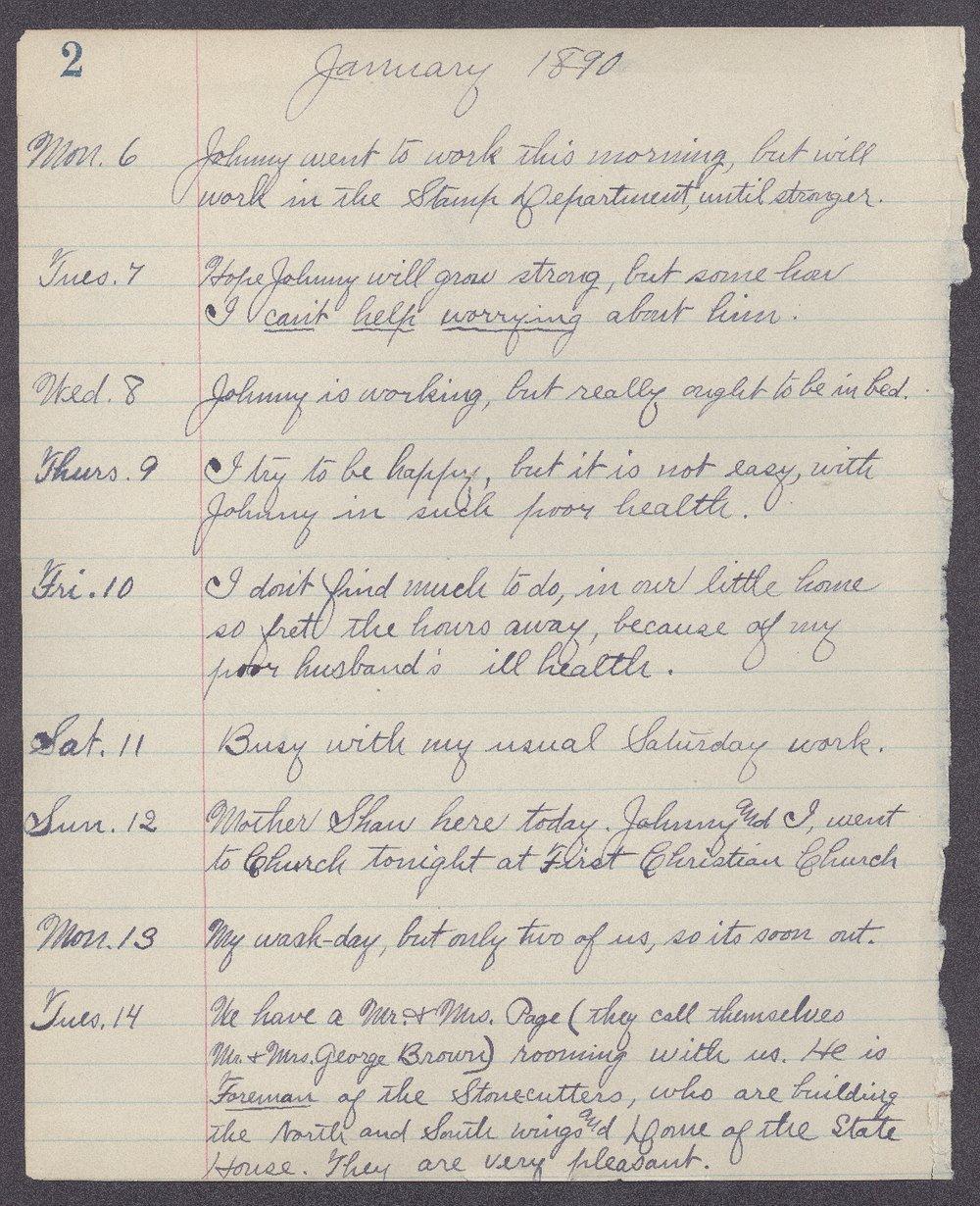 Martha Farnsworth diary - 2