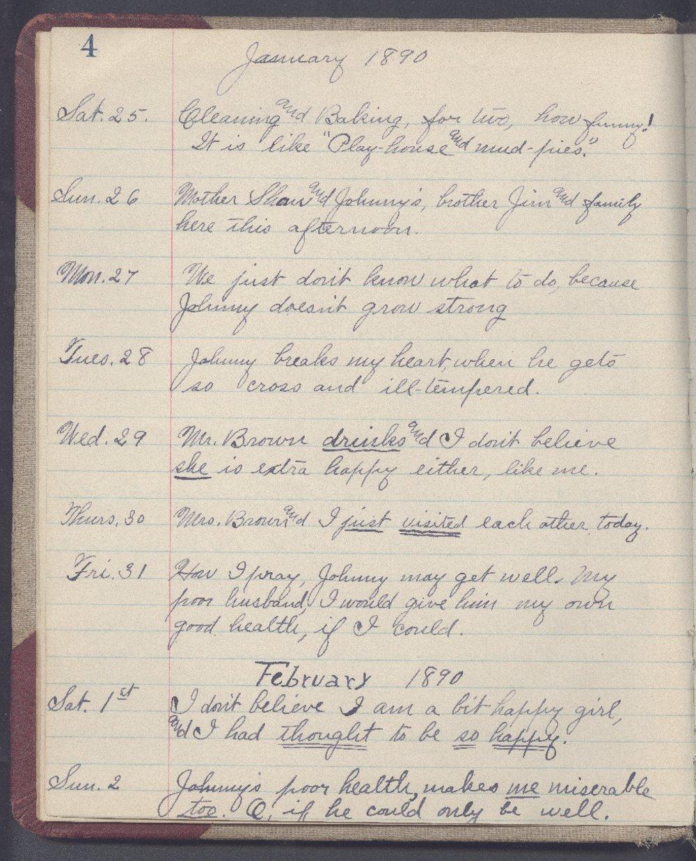 Martha Farnsworth diary - 4