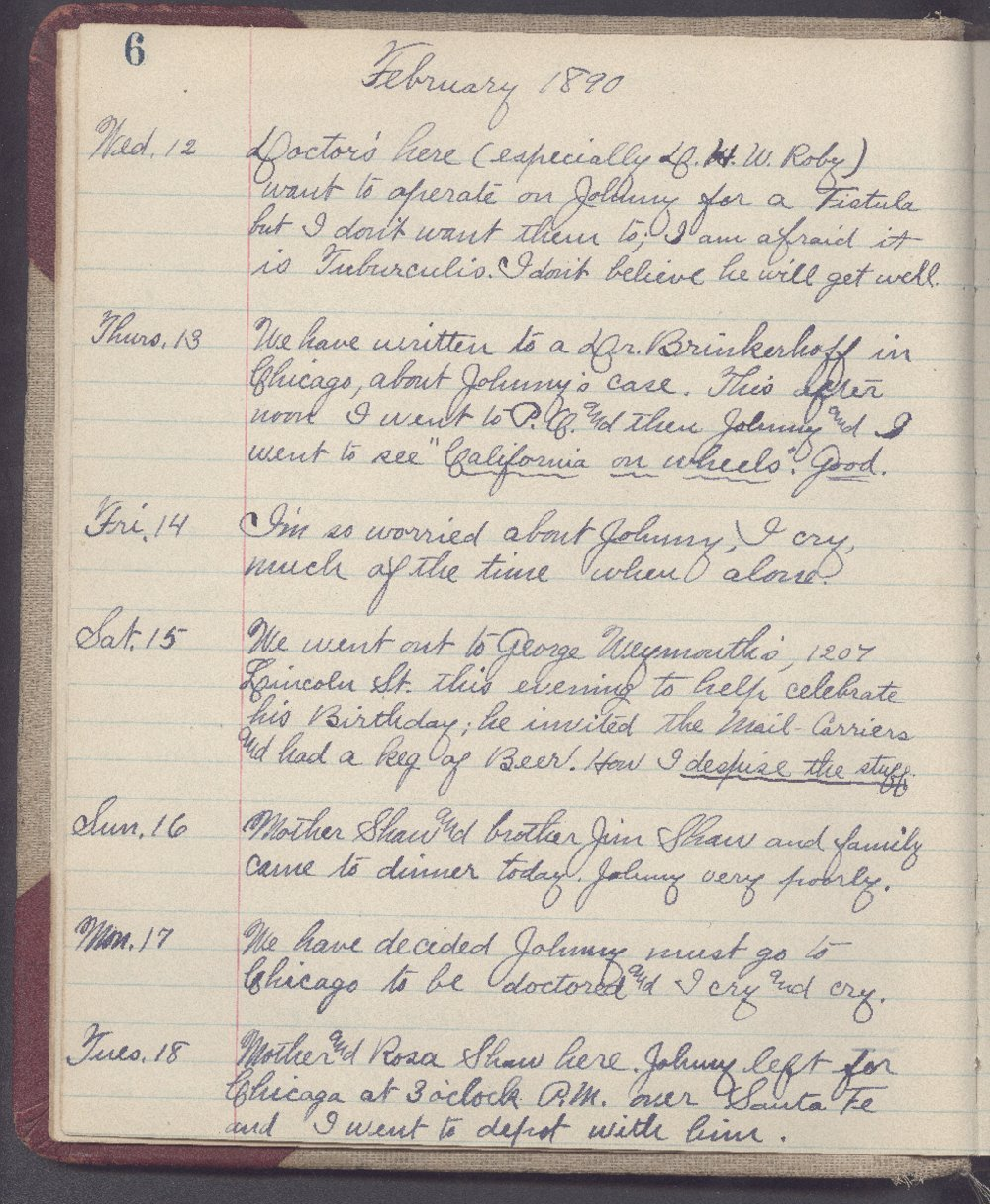 Martha Farnsworth diary - 6