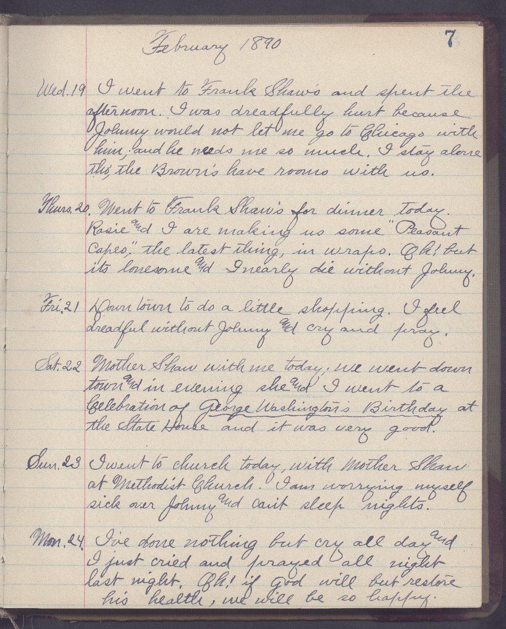 Martha Farnsworth diary - 7