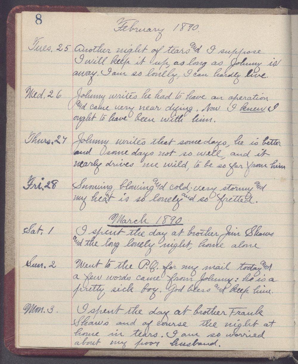 Martha Farnsworth diary - 8