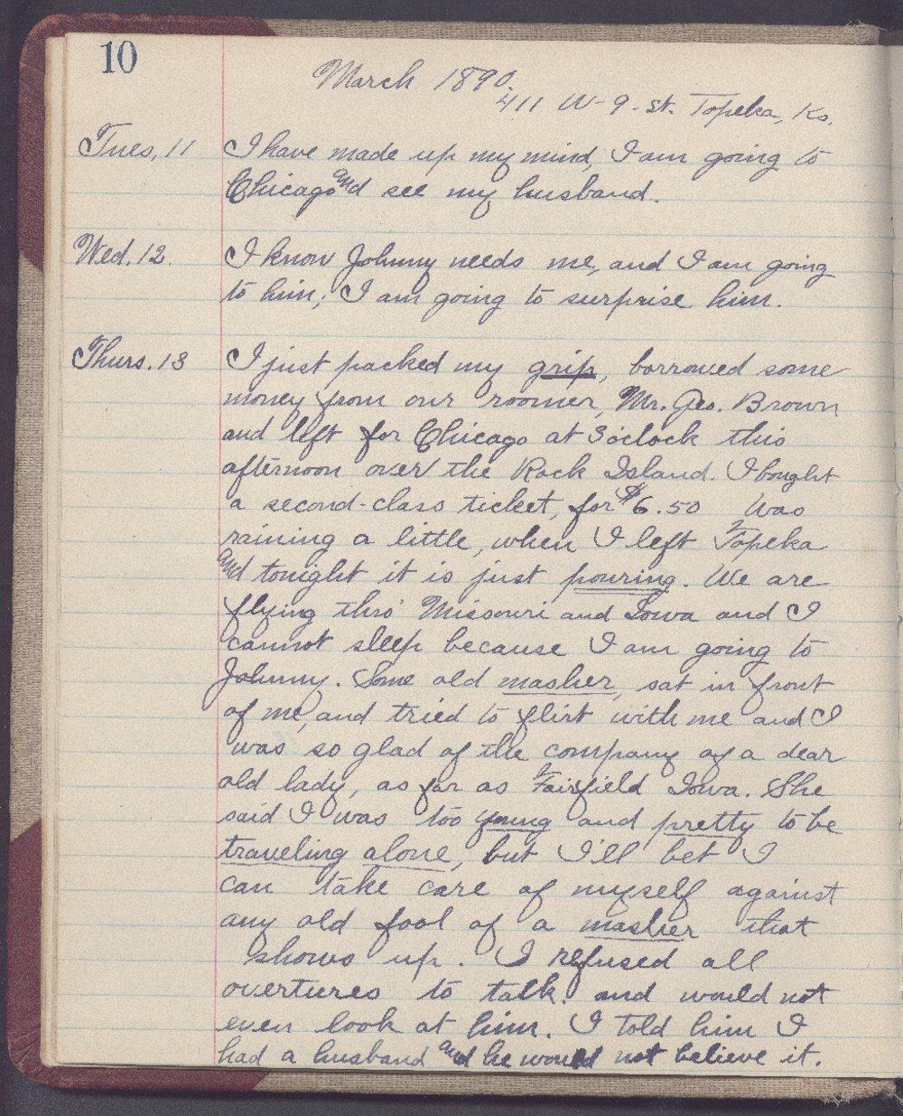 Martha Farnsworth diary - 10