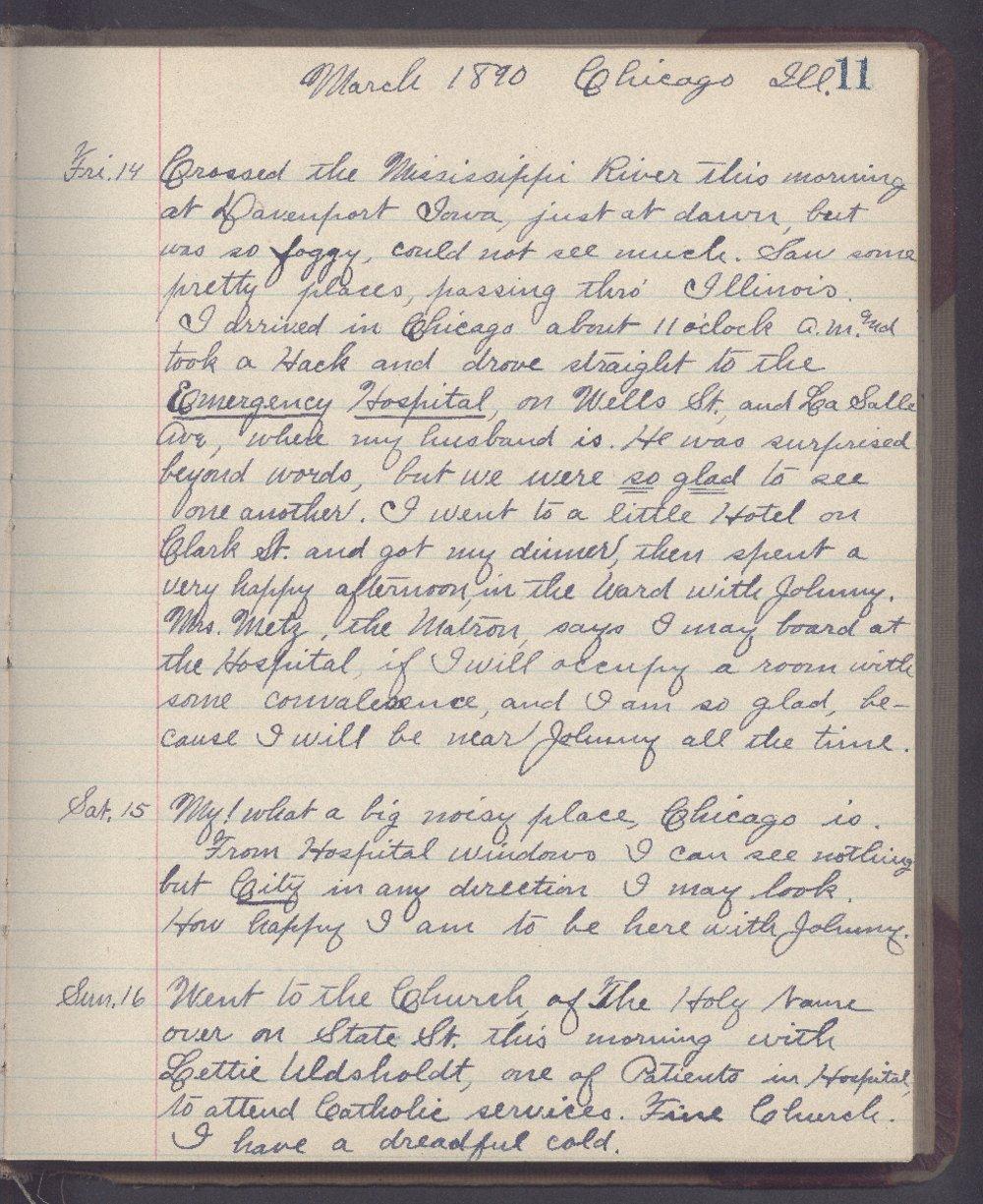 Martha Farnsworth diary - 11