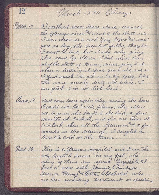 Martha Farnsworth diary - 12