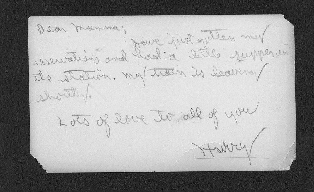 Harry Fine correspondence - 2
