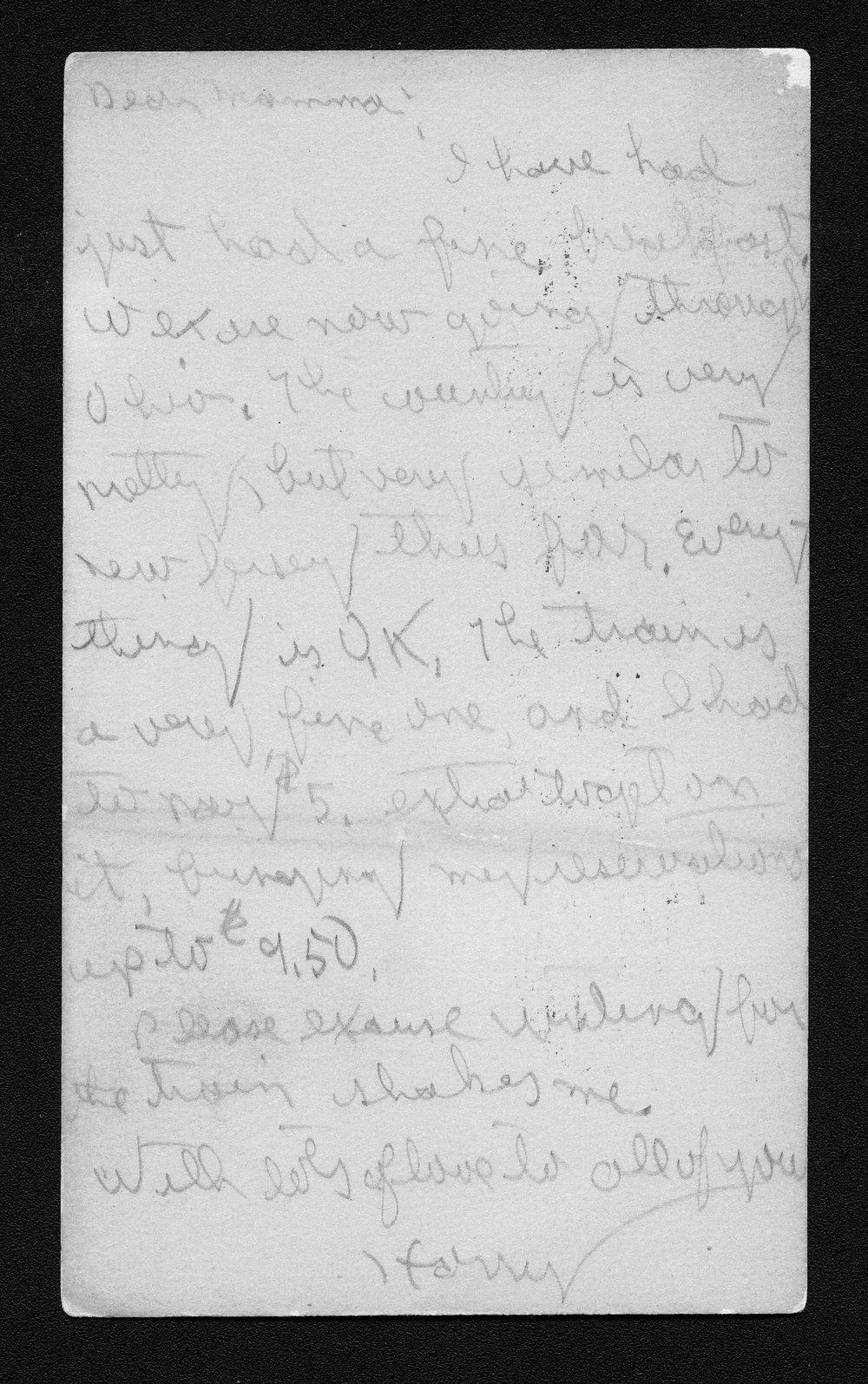 Harry Fine correspondence - 4