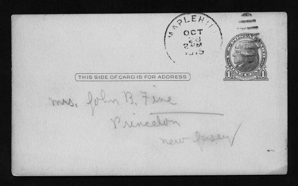 Harry Fine correspondence - 7