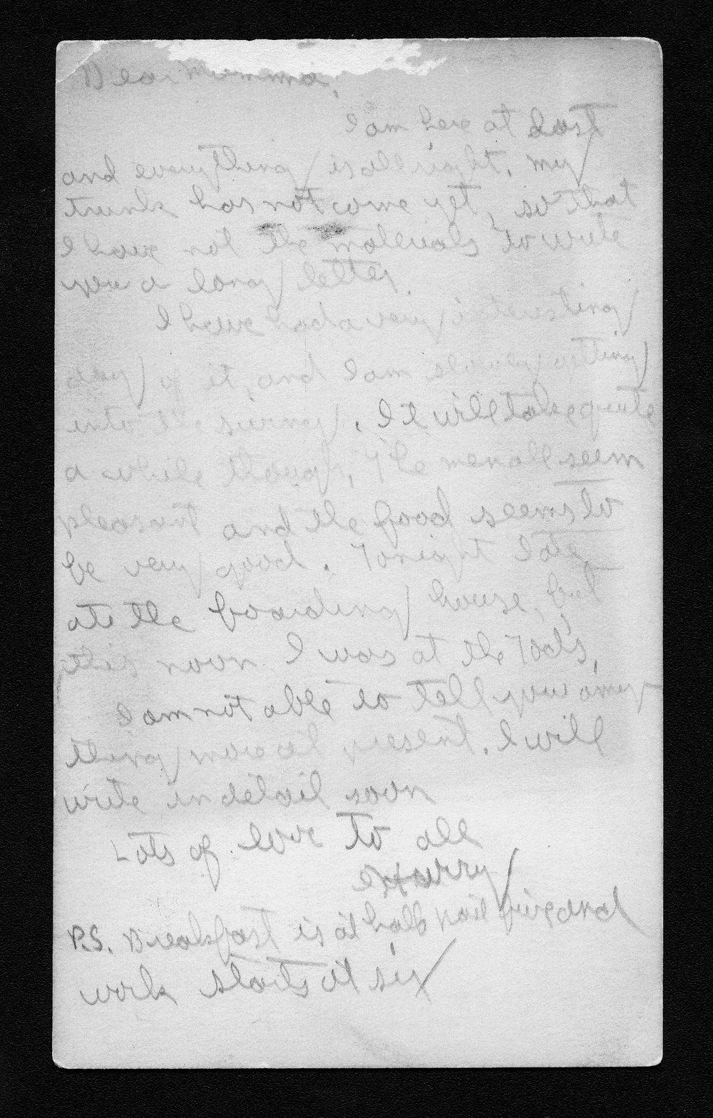 Harry Fine correspondence - 8