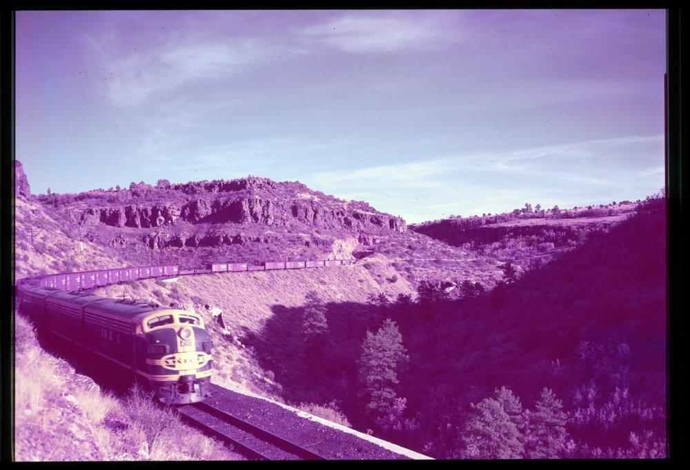 Atchison, Topeka & Santa Fe Railway Company freight train, Johnson Tunnel, Arizona