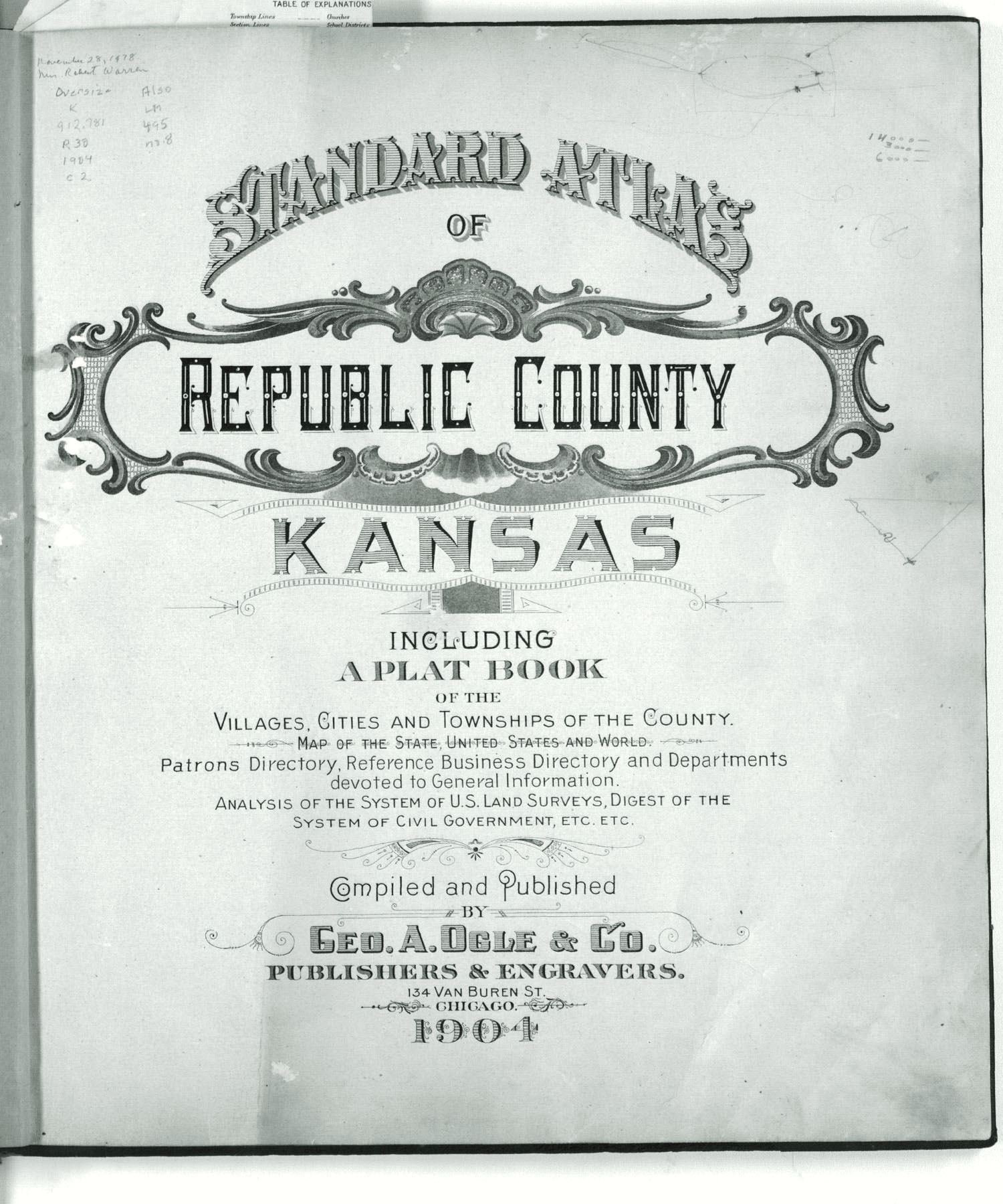 Standard atlas of Republic County, Kansas - Title Page