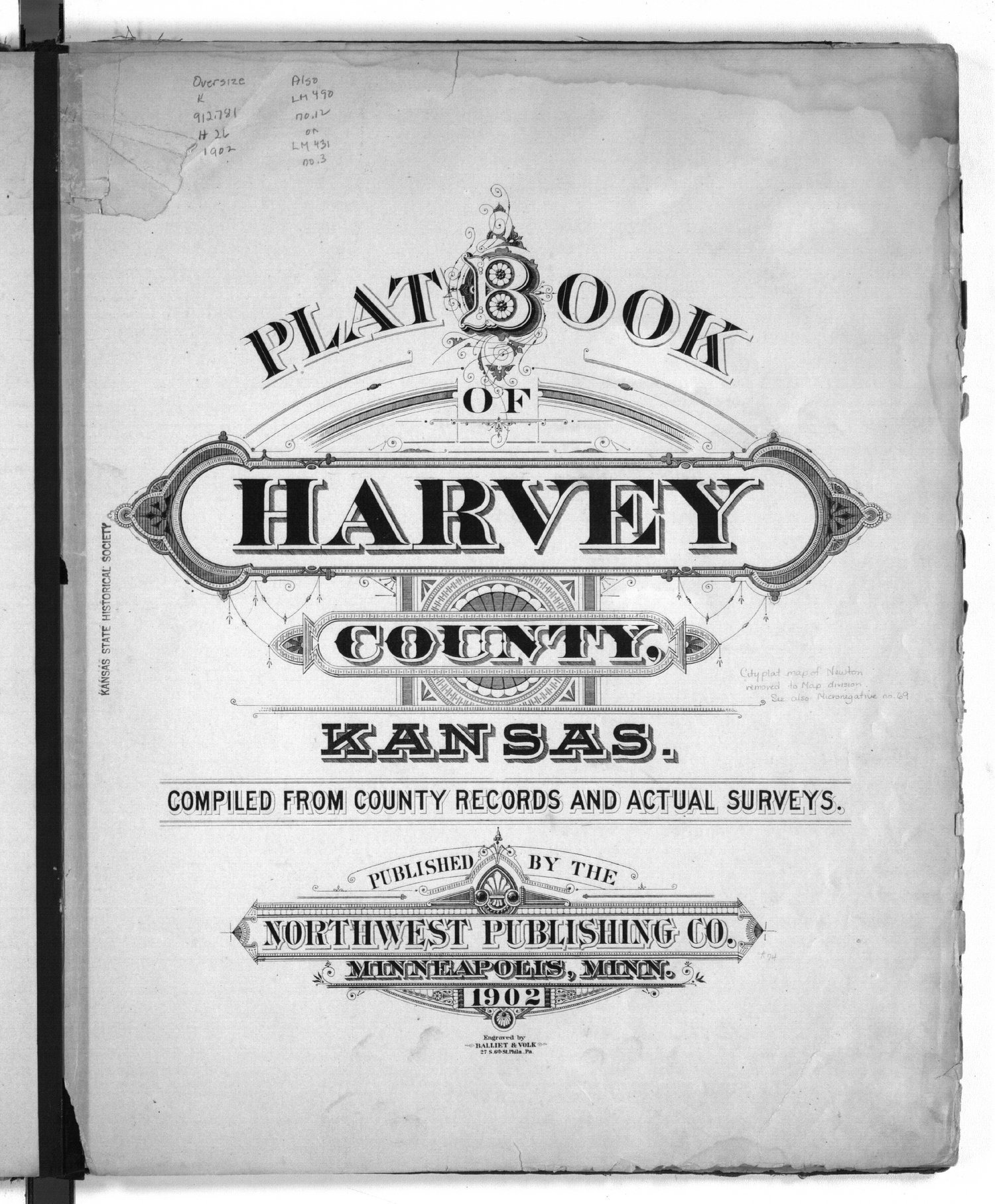 Plat book of Harvey County, Kansas - Title Page