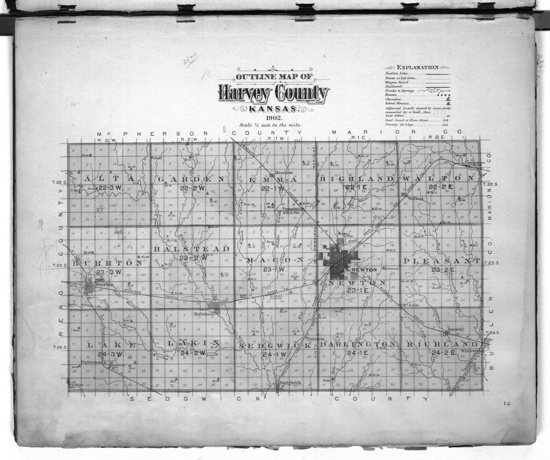 Plat book of Harvey County, Kansas - 2