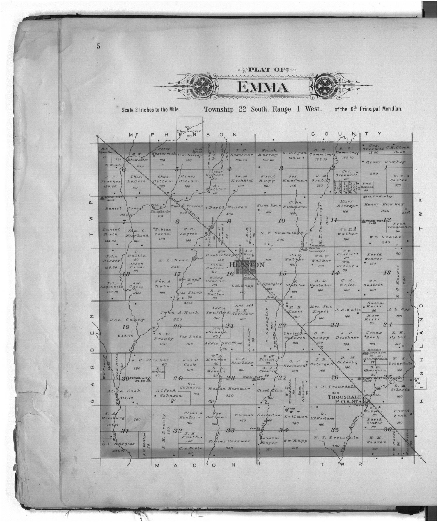 Plat book of Harvey County, Kansas - 5