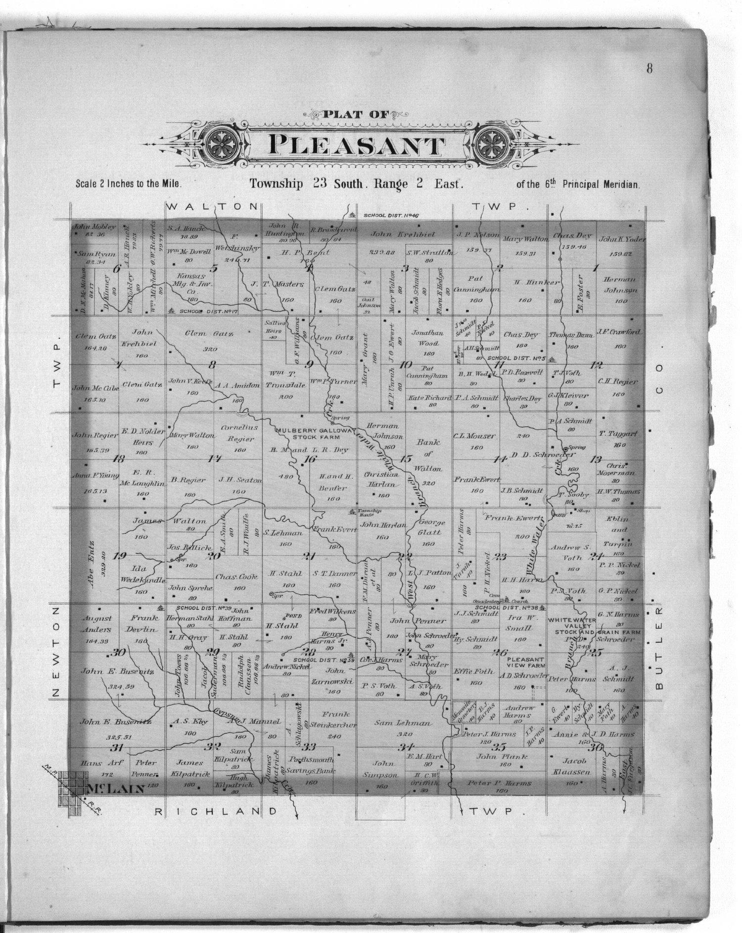 Plat book of Harvey County, Kansas - 8