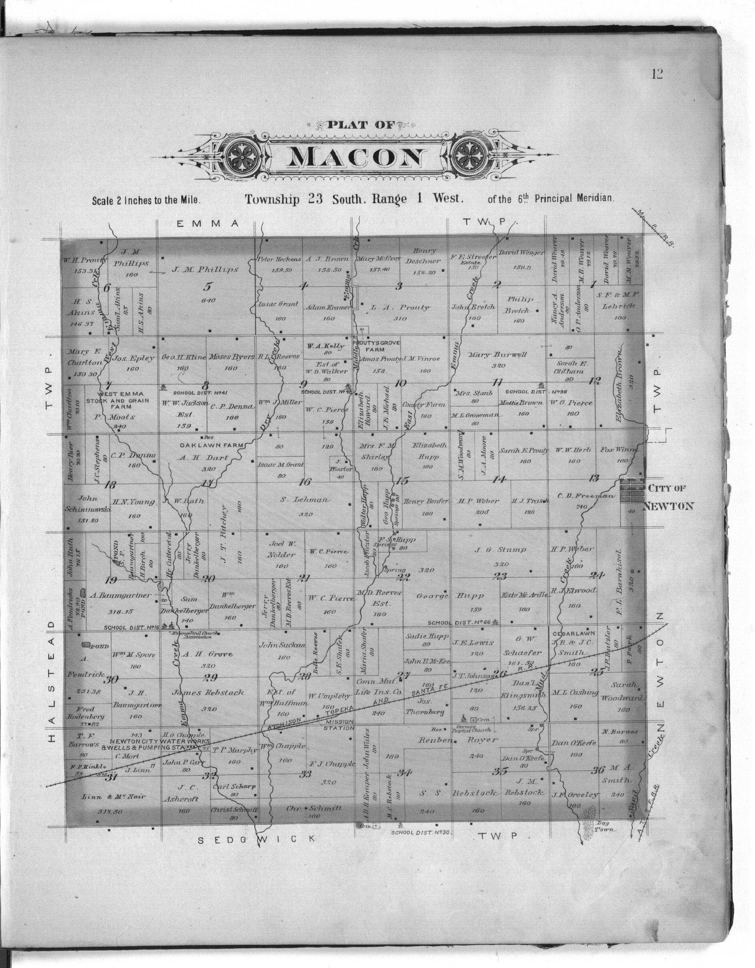 Plat book of Harvey County, Kansas - 12