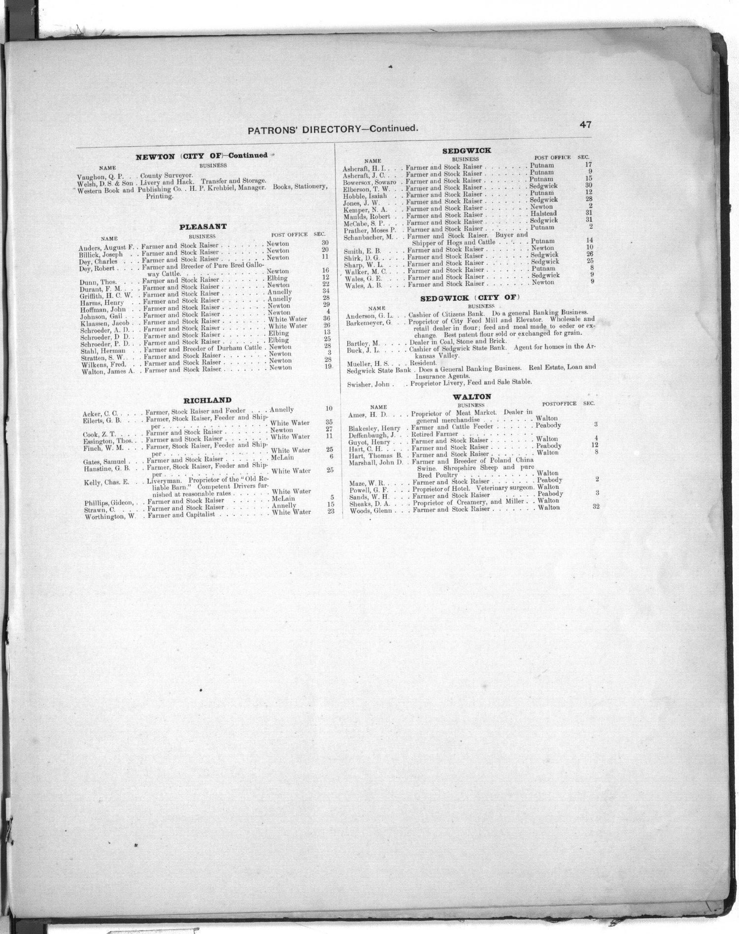 Plat book of Harvey County, Kansas - 47