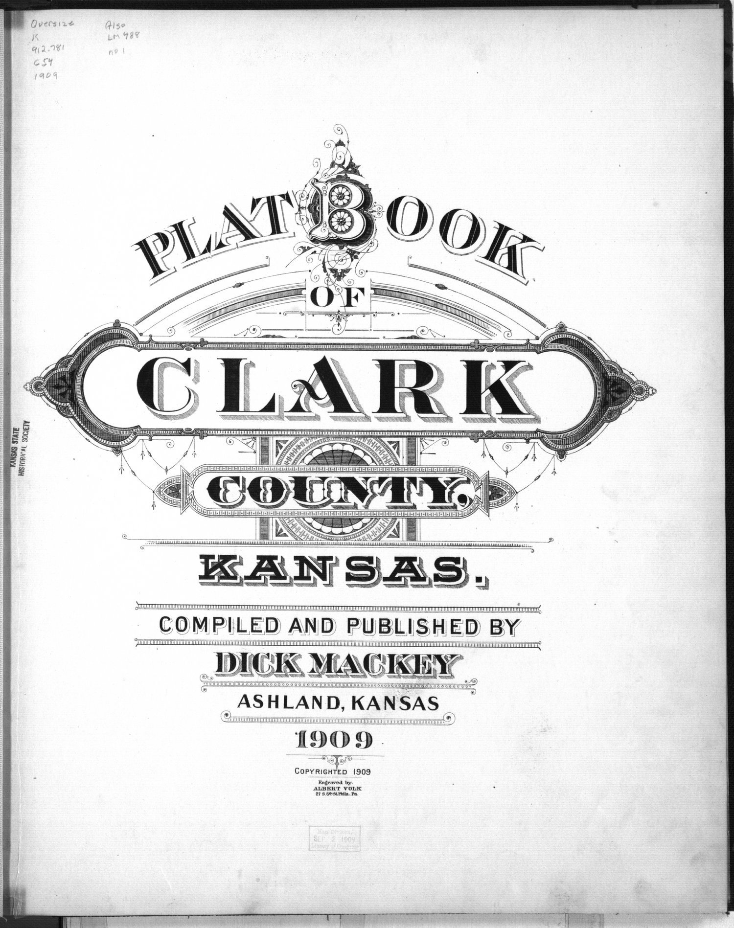Plat book of Clark County, Kansas - Title page
