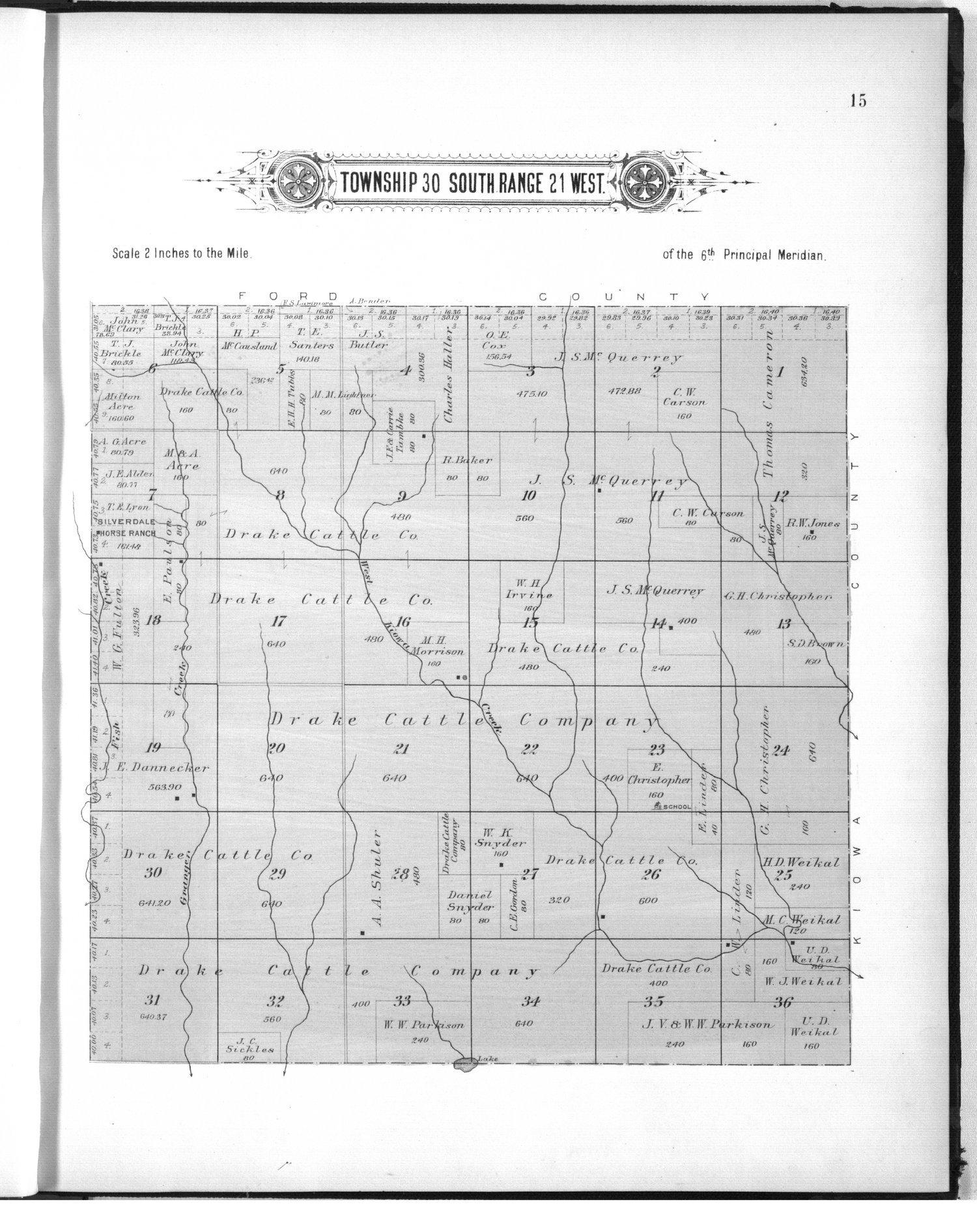 Plat book of Clark County, Kansas - 15