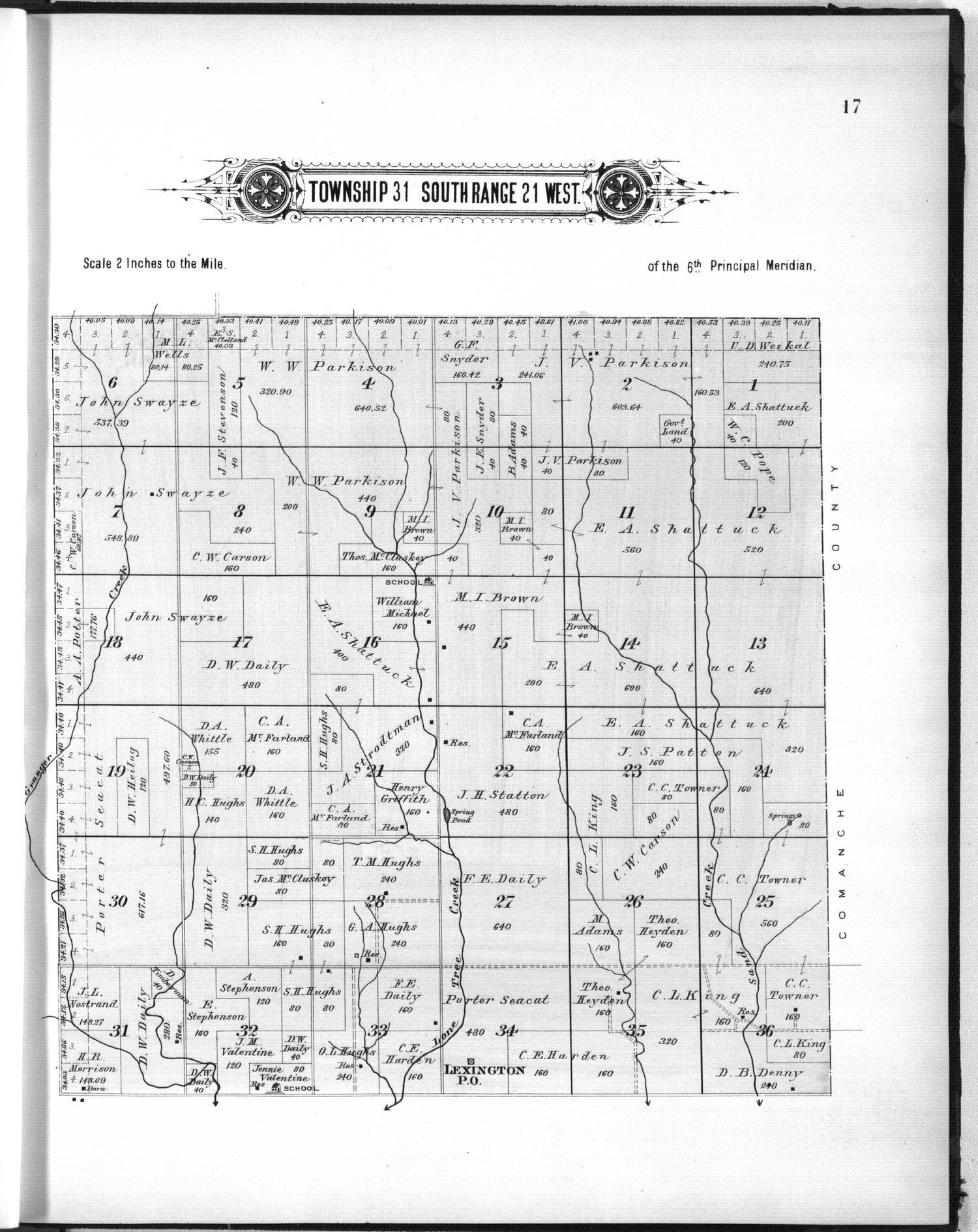 Plat book of Clark County, Kansas - 17