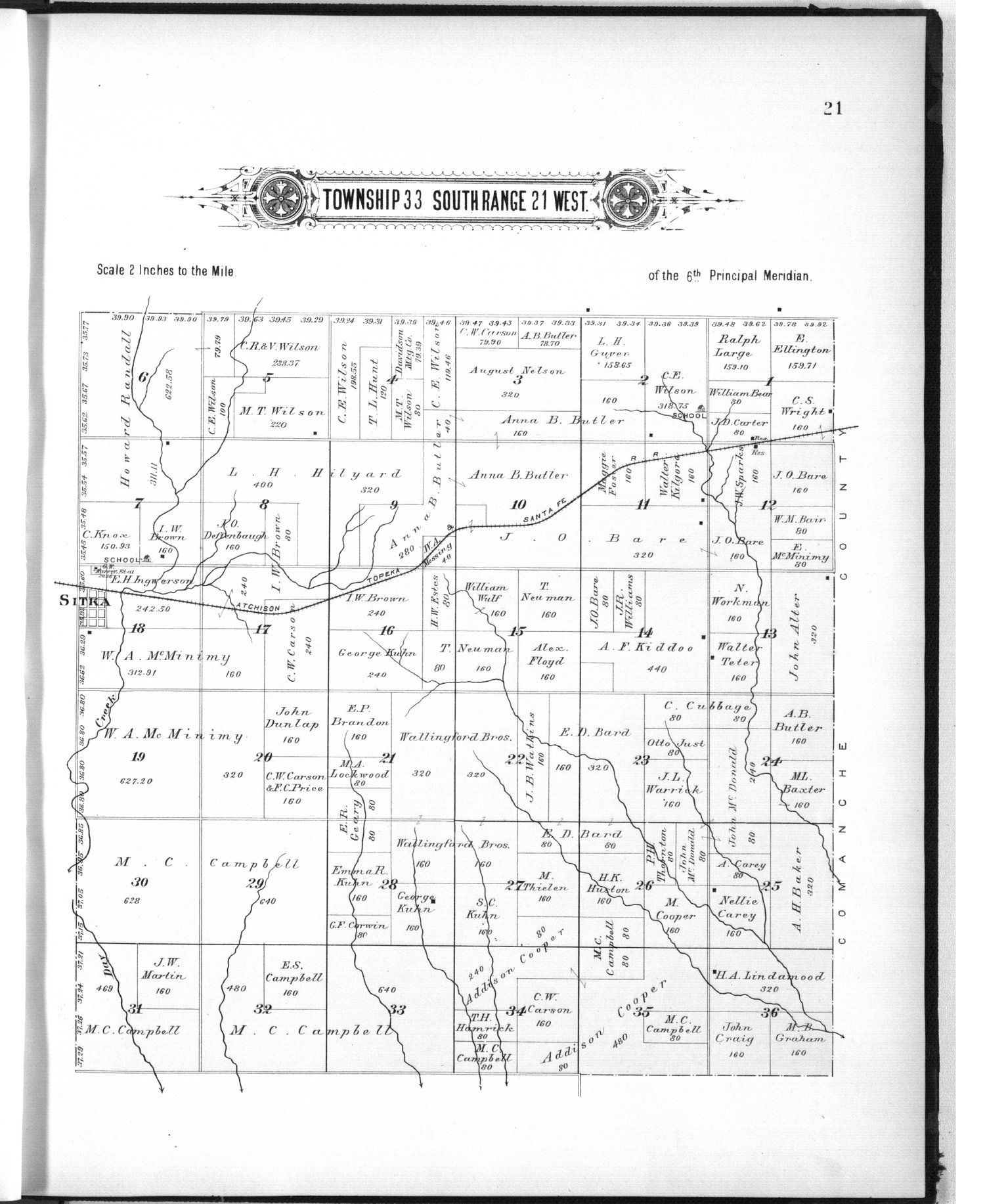 Plat book of Clark County, Kansas - 21