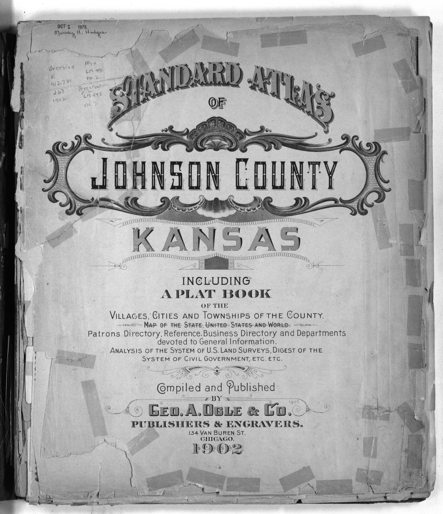 Standard atlas of Johnson County, Kansas - Title page