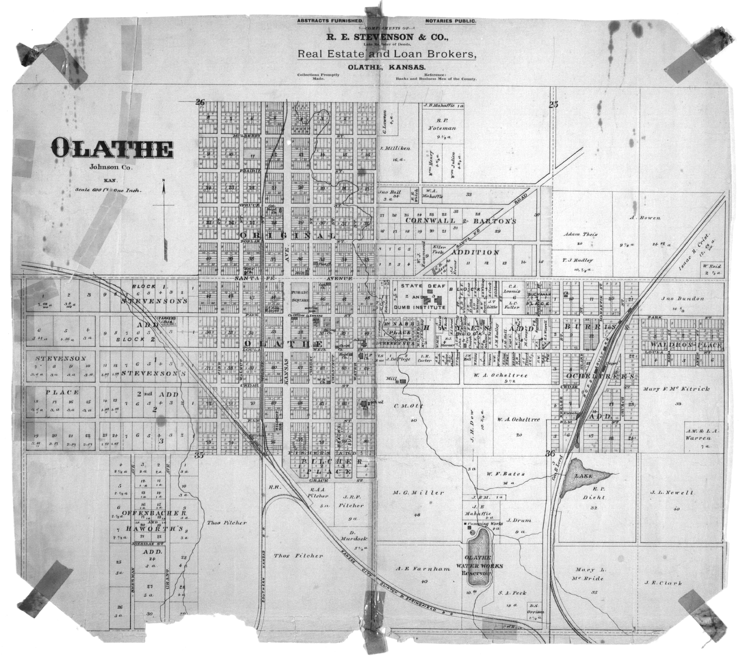 Standard atlas of Johnson County, Kansas - Map of Olathe insert