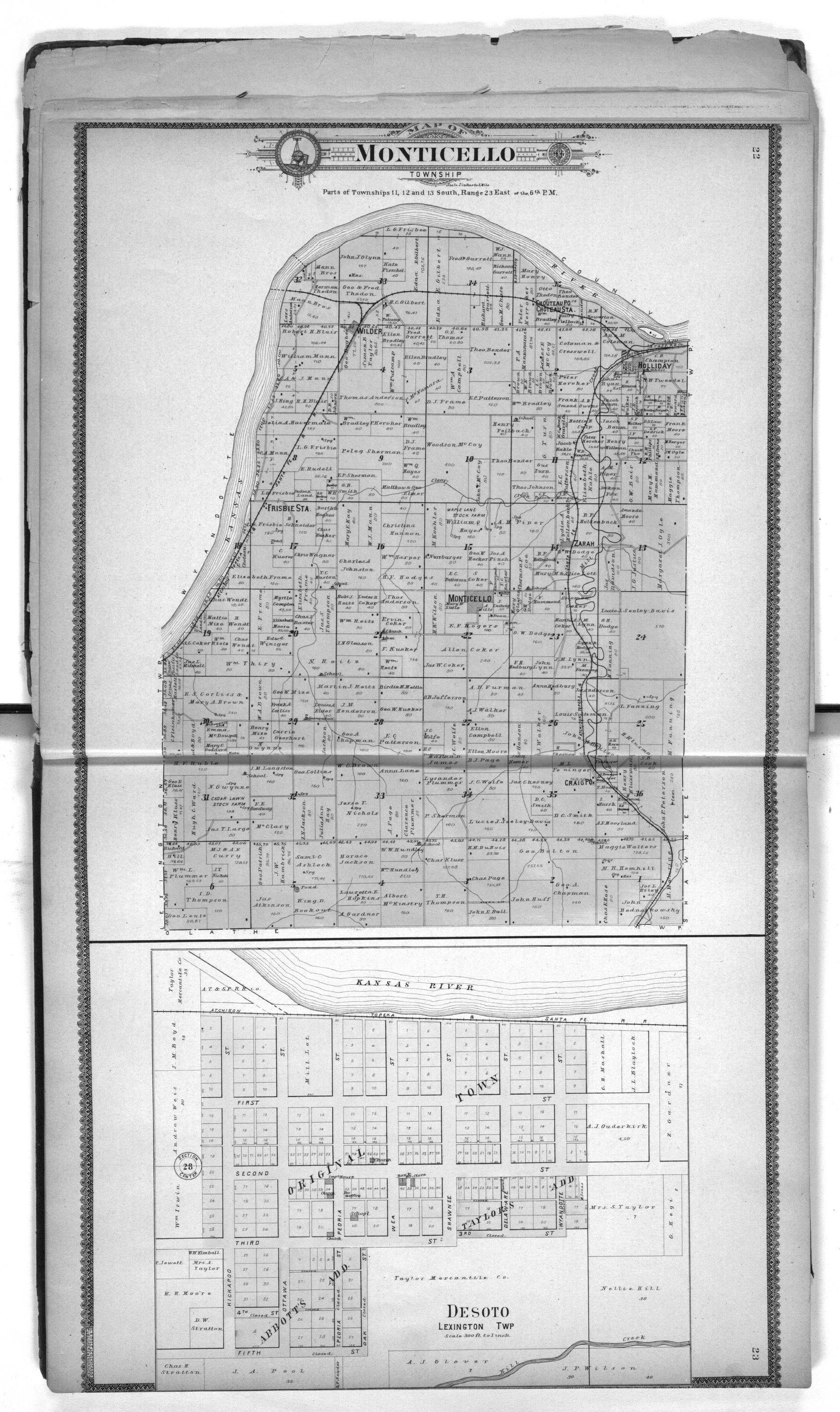 Standard atlas of Johnson County, Kansas - 22 & 23